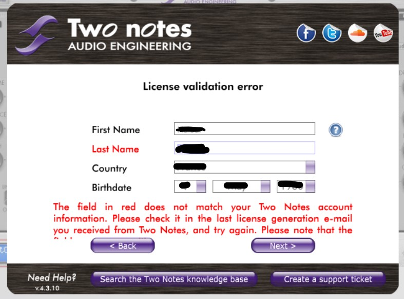 wos ID issue error message